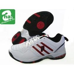 Giày tennis trắng đỏ đen Prince gtt01