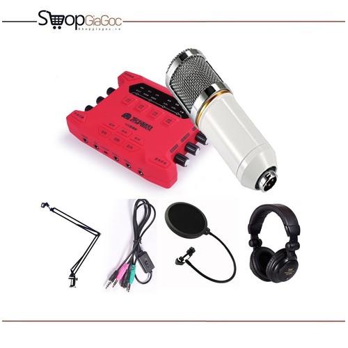 Combo: Sound Card K10X + BM800 + Dây U1 + Màng + NB35 + Tai Nghe 960B