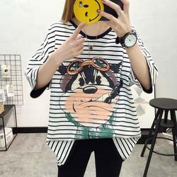 áo hoodie oversized sọc ngang Mã: AX3548 - TRẮNG