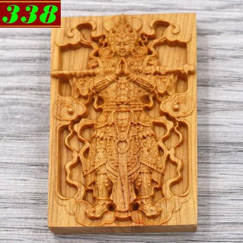 Mặt gỗ hoàng đàn Nhị lang thần MG38