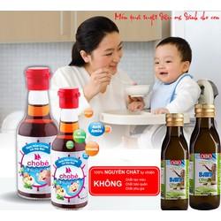 Combo 2 Chai Nước Mắm Cho Bé và 2 chai Dầu Ôliu Baby cho bé ăn dặm