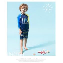 đồ bơi bé trai dài tay  TB0563 thun 4 chiều - L - như hình