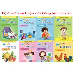 Bộ 8 cuốn sách tập viết tiếng Anh cho bé nhiều chủ đề thú vị