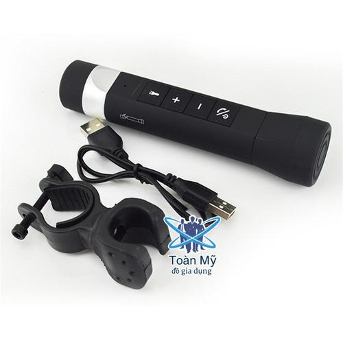 Đèn pin đa chức năng kết hợp: máy nghe nhạc, sạc dự phòng, radio