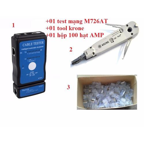 Bộ test mạng đa năng M726AT + Tặng tool krone+ 100 đầu RJ45