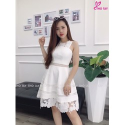 TiiT Shop - Đầm Kim Tuyến Phối Ren Siêu Xinh BTD13