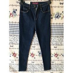 Quần jeans nữ màu xanh đậm size 26