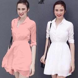 Đầm xòe nhún eo thời trang-VDX446