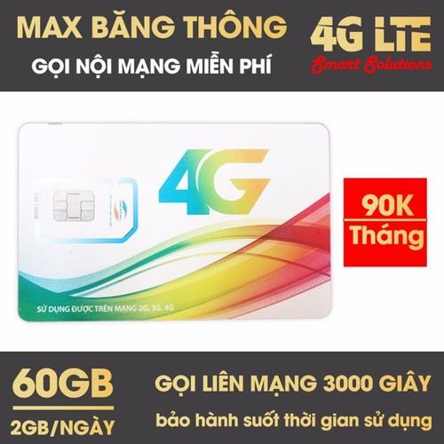SIM 4G VIETTEL V90 TẶNG 60GB THÁNG VÀ MIỄN PHÍ 1 TRIỆU PHÚT GỌI