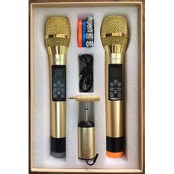 Micro không dây đa năng Eagle J M9  - 2 mic nhôm