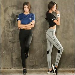 Bộ quần áo tập gym nữ, bộ đồ thể thao nữ SKOT , set đồ bộ tập gym nữ