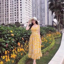 Đầm voan hoa xinh cho mùa hè