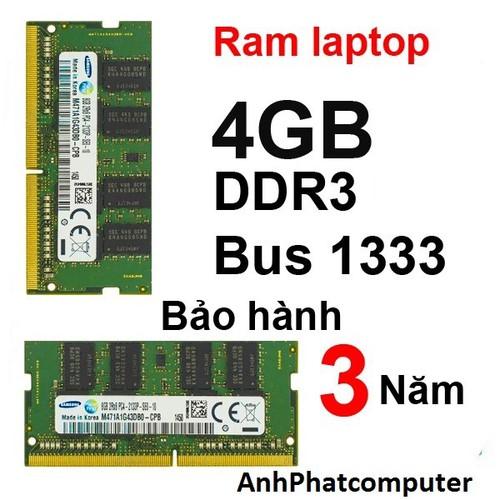 Ram  laptop | Ram máy tính 4GB DDR3 Bus 1333