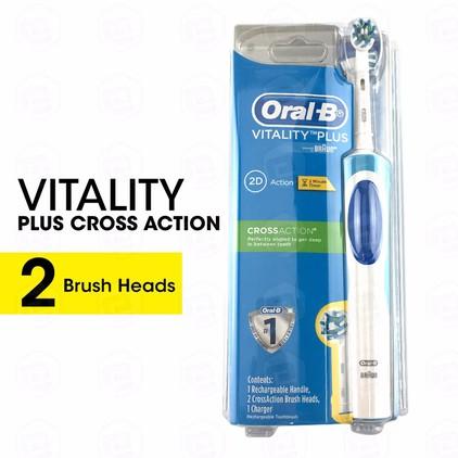 Bàn Chải Đánh Răng Điện Oral-B Vitality Plus 2 Đầu CrossAction -  Úc 1