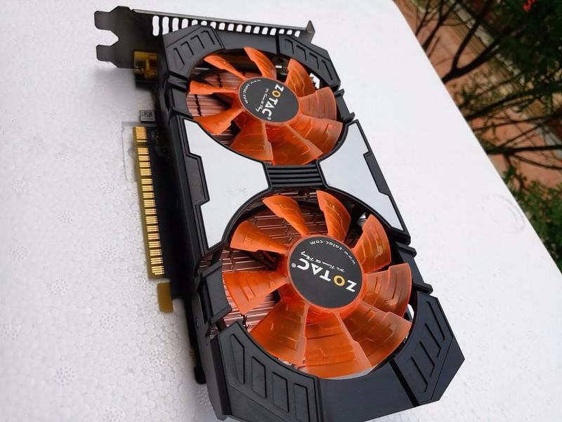 Card màn hình Zotac GTX 750 ti 2G, 2fan,  yêu cầu nguồn phụ 6pin 2