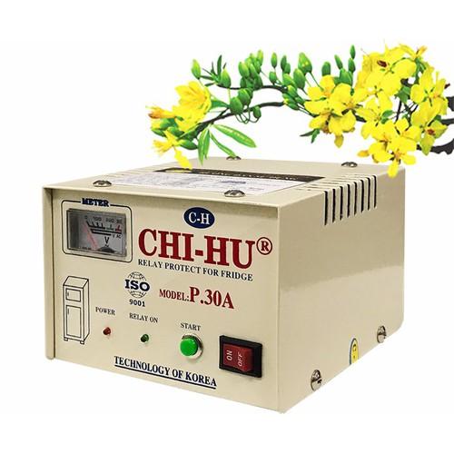 [FreeShip 30k] Relay Ổn áp bảo vệ tủ lạnh cao cấp CHI HU 30A
