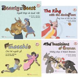 Bộ 4 cuốn sách song ngữ Việt Anh 4 chủ đề yêu thích của bé NXB Văn học