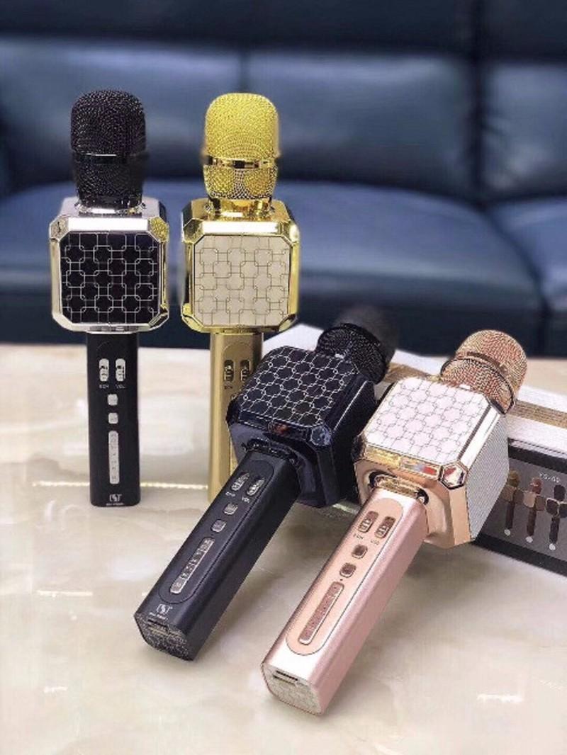 Micro kèm Loa Bluetooth ys-05 mic hát karaoke 1