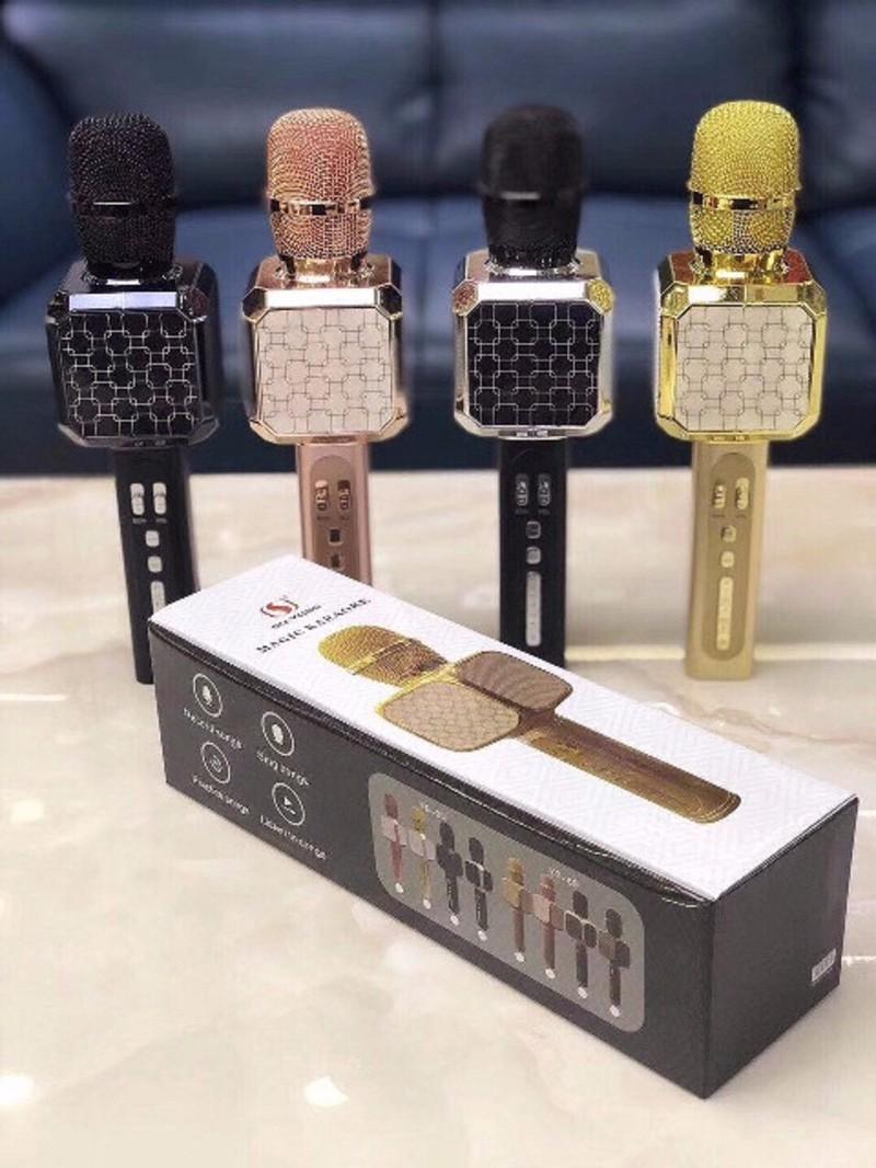 Micro kèm Loa Bluetooth ys-05 mic hát karaoke 5