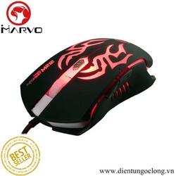 Chuột Chuyên Game 6D Marvo M212 Đèn Led Cổng USB 2000DPI