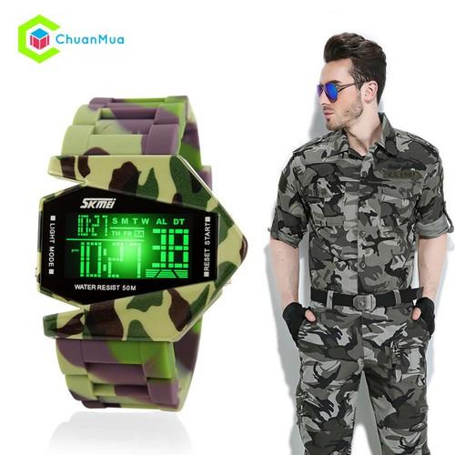 Đồng hồ Nam Chống Shock Skmei 0817 Bộ Đội - Xanh lá