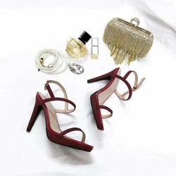 giày cao gót quai mảnh đế độn
