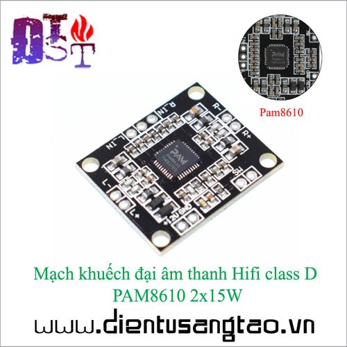 Mạch khuếch đại âm thanh Hifi class D  PAM8610 2x15W - 5475375 , 9180771 , 15_9180771 , 30000 , Mach-khuech-dai-am-thanh-Hifi-class-D-PAM8610-2x15W-15_9180771 , sendo.vn , Mạch khuếch đại âm thanh Hifi class D  PAM8610 2x15W