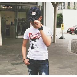 Áo thun nam cổ tròn phong cách teen Hàn Quốc