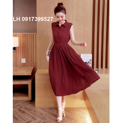 Đầm vintage cao cấp váy maxi đẹp 2018 K79DV12