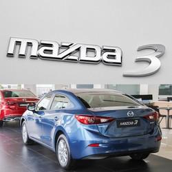 Tem logo chữ nổi MAZDA 3 dán trang trí xe