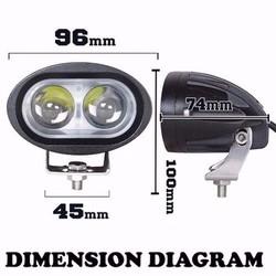 Đèn trợ sáng xe máy   Đèn Led L2 Lồi