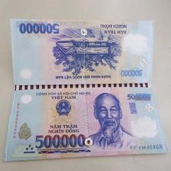 bóp cầm tay dành cho nữ in hình 500k