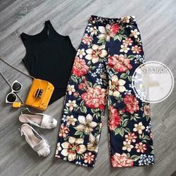 Sét áo ba lỗ kèm quần hoa