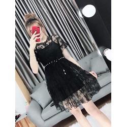 TiiT Shop - Đầm Ren Kèm Lót Trong Siêu Xinh BTD14