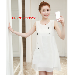 Đầm bầu mùa hè đẹp xinh đầm váy bầu 2 dây đầm suông oversize L12ADV159