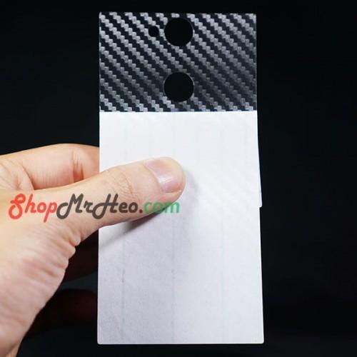 Bộ 3 Dán Full Mặt Sau Lưng Vân 3D Carbon Sony XA2