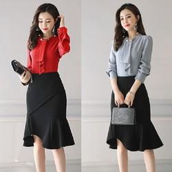 M,L,XL-Set váy ống kèm áo cách điệu-VDX455
