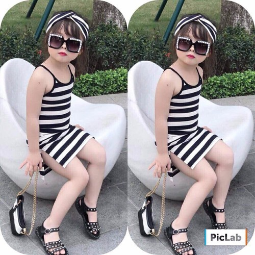 Đầm thun bé gái body 2 dây cực mát mùa hè kèm băng đô xinh - 5589646 , 9428055 , 15_9428055 , 175000 , Dam-thun-be-gai-body-2-day-cuc-mat-mua-he-kem-bang-do-xinh-15_9428055 , sendo.vn , Đầm thun bé gái body 2 dây cực mát mùa hè kèm băng đô xinh