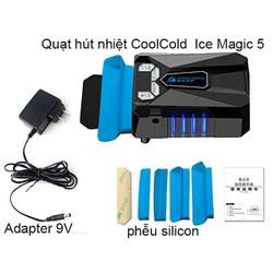 Quạt Hút Gió Tản Nhiệt Laptop Coolcold Ice Magic 5_nguồn Adaepter 9V