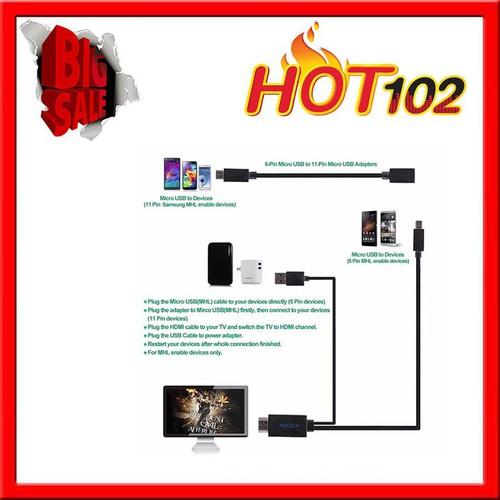 Bộ cáp MHL to HDMI đa năng 5 pin và 11pin