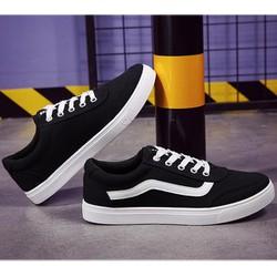 Giày vải nam, giày có đường kẻ trắng lượn sóng, giày rẻ đẹp