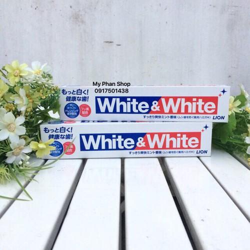 Kem đánh răng Nhật Bản White and White Lion