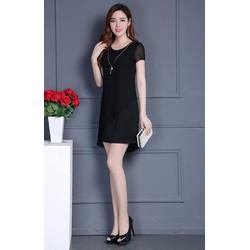 Đầm suông phối voan thời trang