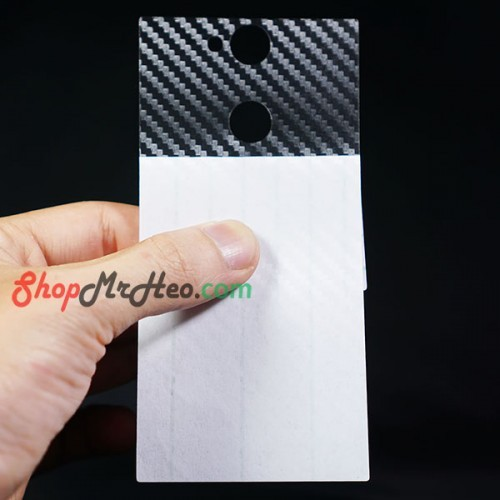 Bộ 3 Dán Full Mặt Sau Lưng Vân 3D Carbon Sony XA2 Ultra