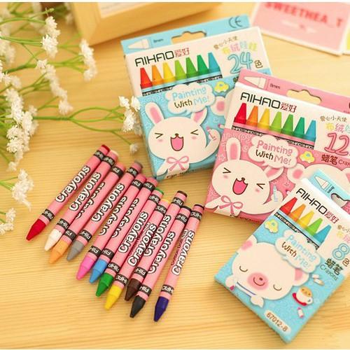 Hộp bút sáp mầu Aihao 12 màu