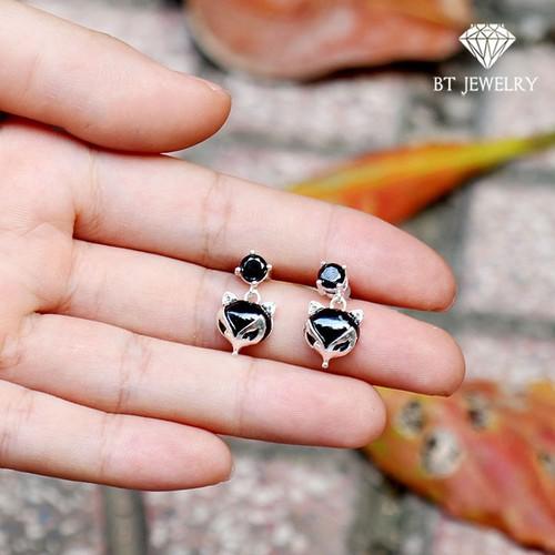 [FREESHIP 99K] Bông Tai Nữ Thiên Hồ Đen Thương Hiệu BT JEWELRY