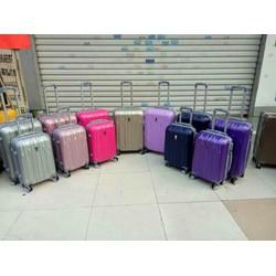 vali du lịch nhựa abs kết hợp pc cao cấp tay kéo hợp kim chống gỉ