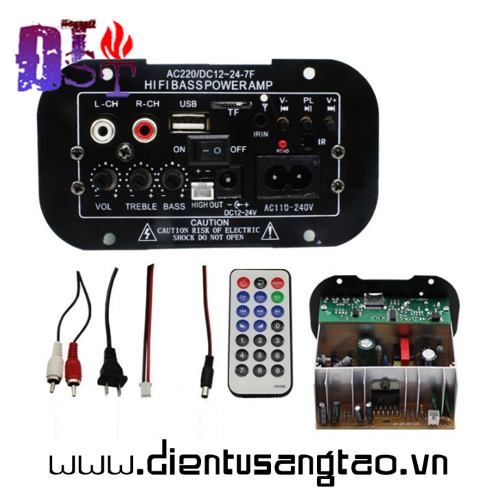 Mạch âm ly hifi bass power tặng USB bluetooth D00-119