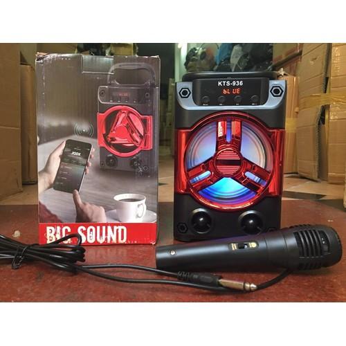 Loa bluetooth karaoke KTS-936 tặng kèm mic,  rẻ nhất