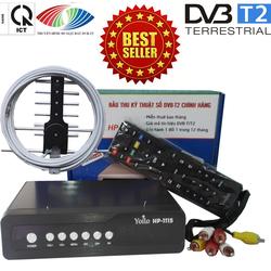Đầu thu kỹ thuật số DVB-T2 HP-1115 kèm bộ anten thông minh và dây